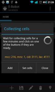 Collecting cells