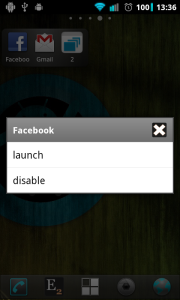 Launch or disable application