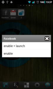 Enable and launch application